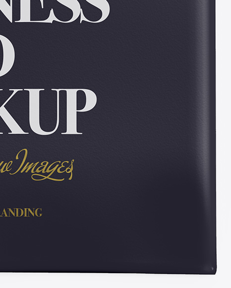 Business Card in Cover Mockup - Top View
