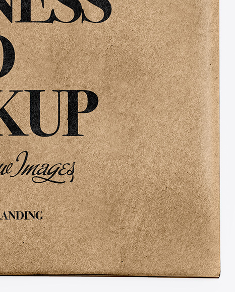 Kraft Business Card in Cover Mockup - Top View