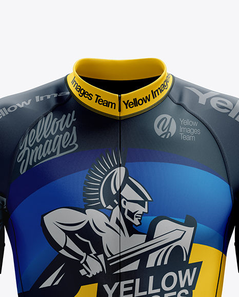 Men's Cycling Skinsuit mockup (Front View)