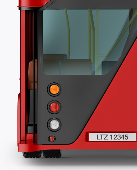 London Bus Mockup - Back View