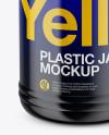 Glossy Jar Mockup - Front View (High Angle Shot)