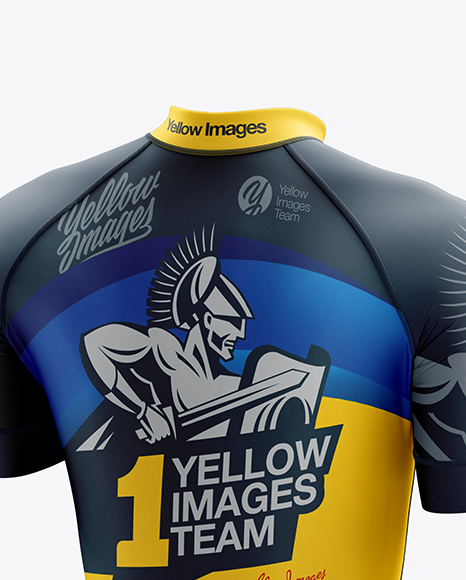 Men's Cycling Skinsuit mockup (Back Half Side View)