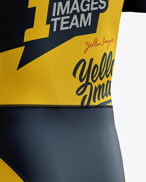 Download Mens Cycling Speedsuit Ls Mockup Half Side View Yellowimages