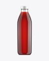 Cherry Juice Glass Bottle Mockup