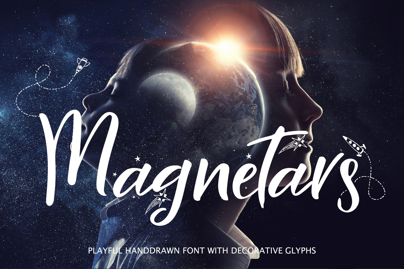 Magnetars - space font in Fonts on Yellow Images Creative