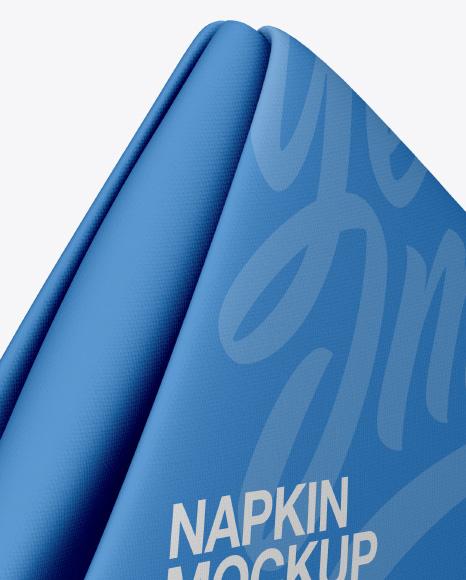 Napkin Mockup - Half Side View (High-Angle Shot)