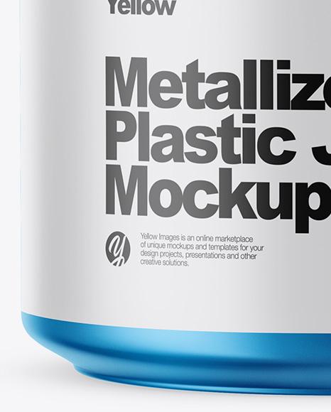Matte Metallic Plastic Jar Mockup
