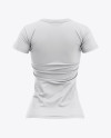 Women's Slim-Fit T-Shirt Mockup - Back View