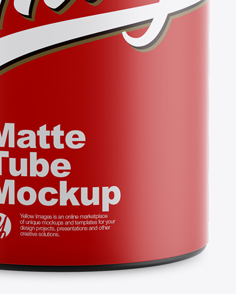 Matte Tube Mockup - Front View
