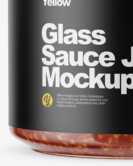 Download Clear Glass Jar With Sweet Chili Sauce Mockup