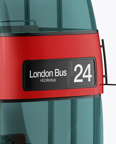 London Bus Mockup - Half Side View