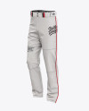 Fit Piped Baseball Pants - Front Half-Side View
