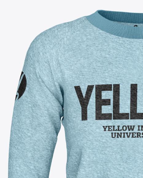 Women's Melange Sweatshirt Mockup - Front View