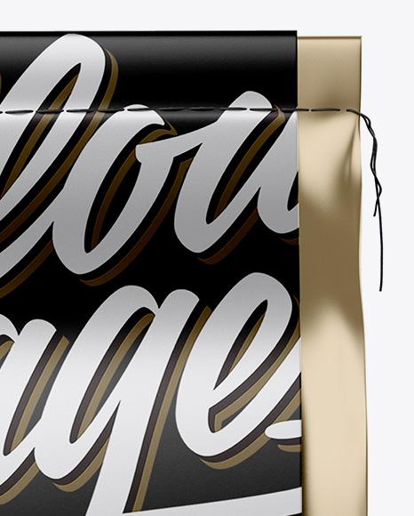 Metallic Coffee Bag Mockup - Front View