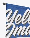 Matte Banner on Pillar Mockup - Half Side View