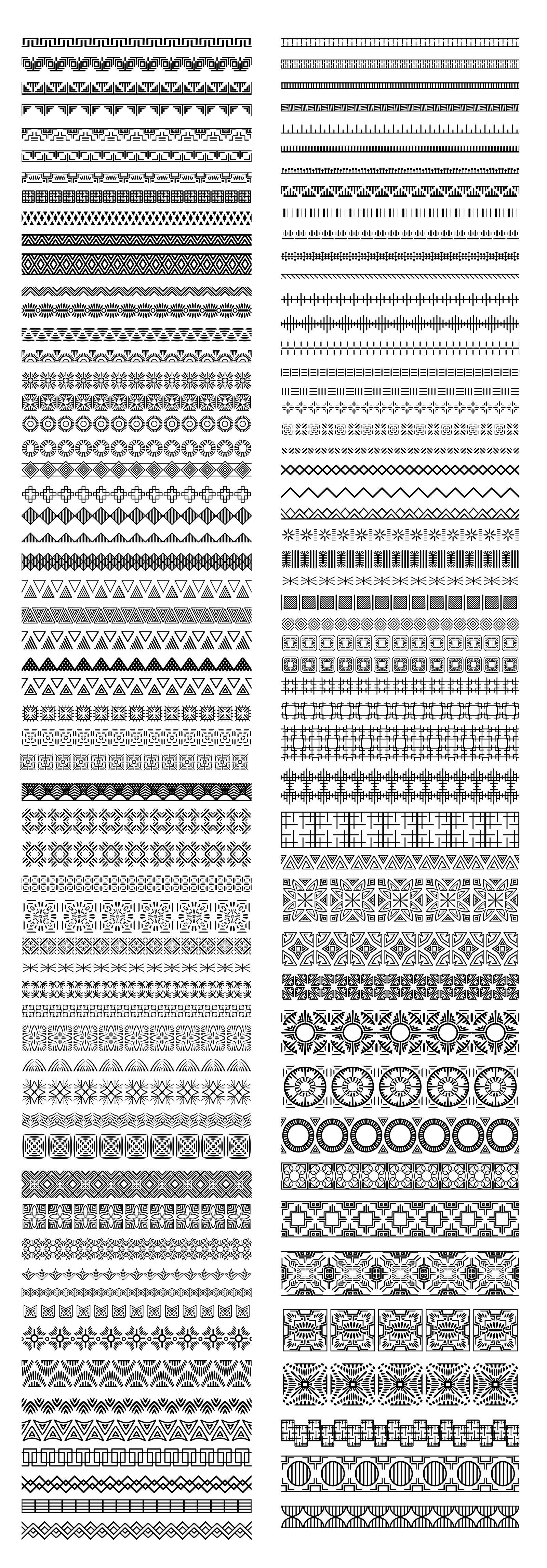 110 Ethnic Pattern Brushes