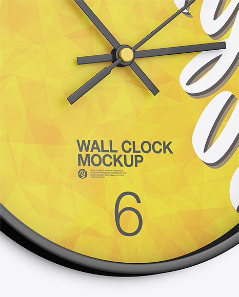 Round Wall Clock Mockup Half Side View In Object Mockups On