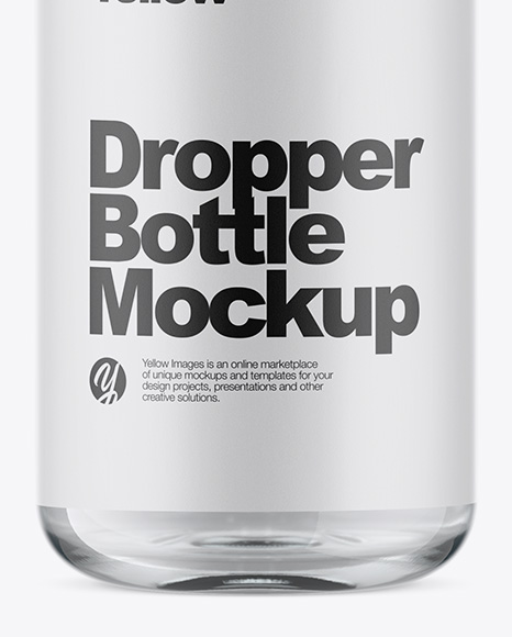 Clear Glass Dropper Bottle Mockup