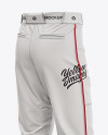 Fit Piped Baseball Pants - Back Half-Side View
