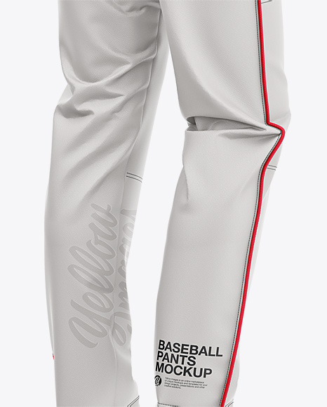 Download Fit Piped Baseball Pants Back Half Side View Yellowimages