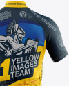 Men's Full-Zip Cycling Jersey Mockup - Back View