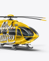 Helicopter Mockup - Right Half Side View