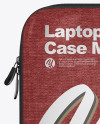 Melange Laptop Case Mockup - Front View
