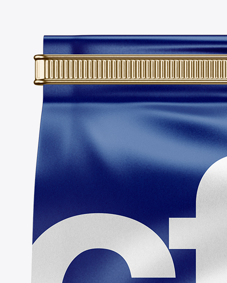 Matte Coffee Bag With Tin-Tie Mockup