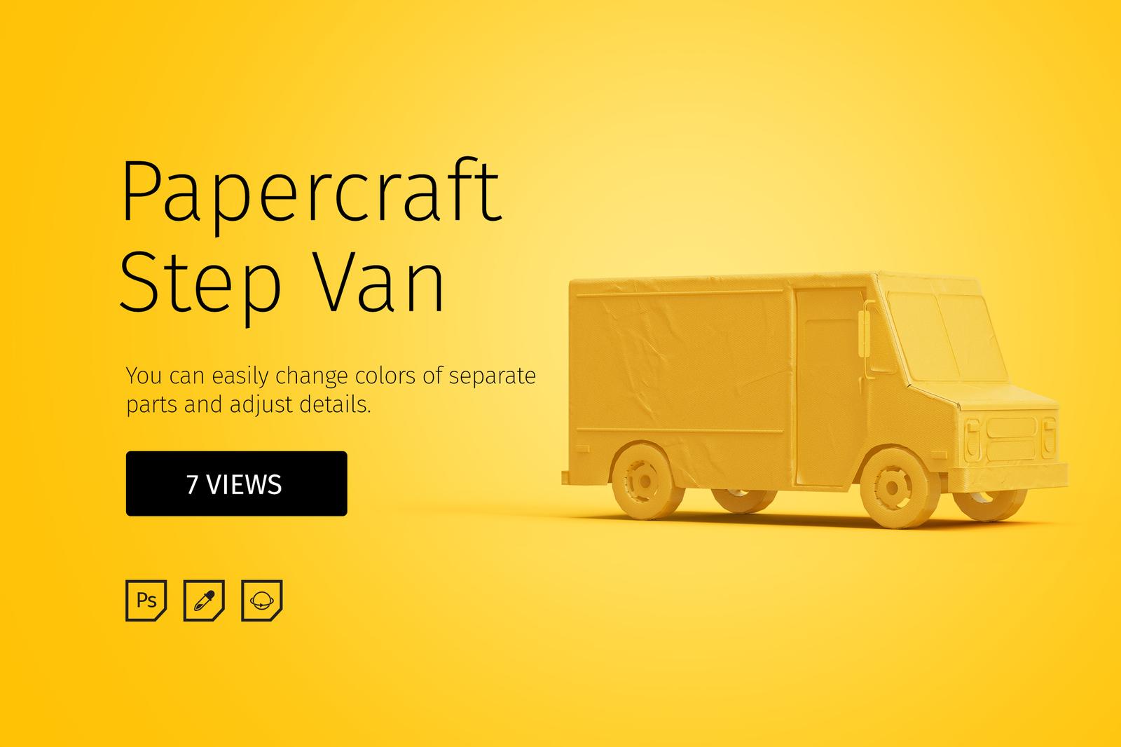 Papercraft Step Van