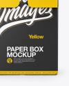 Paper Box Mockup - Front View Mockup
