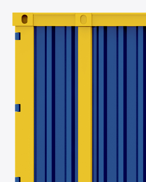 40F Shipping Container Mockup - Side View
