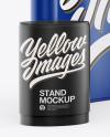 Matte Spring Pop-up Stand Mockup - Half SIde View