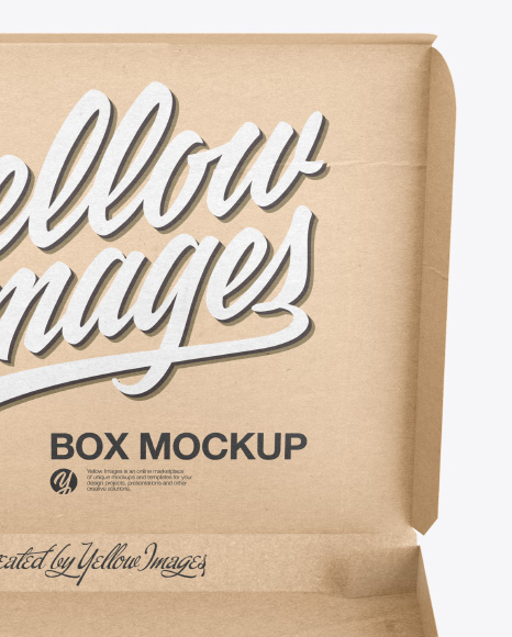 Download Opened Kraft Paper Box Mockup Front View PSD - Free PSD Mockup Templates