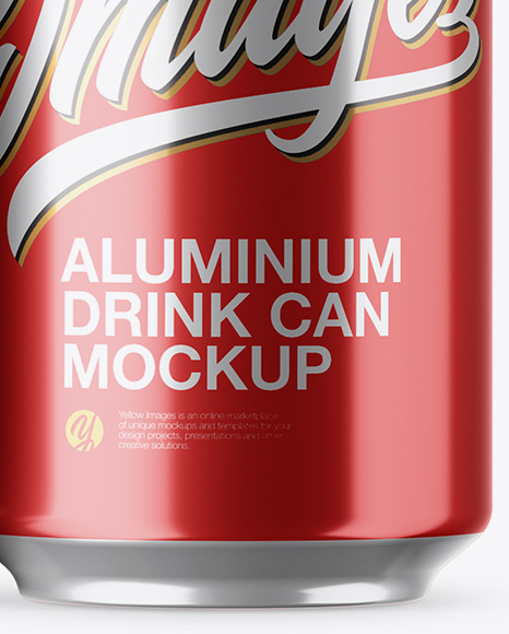 Pack with 6 Metallic Aluminium Cans with Plastic Holder Mockup
