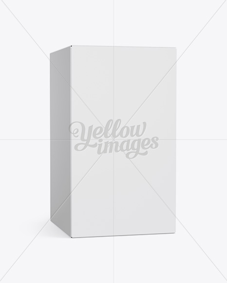 Matte Paper Box Mockup - 25° Angle Front View (Eye-Level Shot)