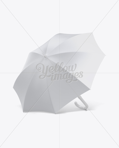 Download Open Umbrella Mockup Front 34 View Yellow Images