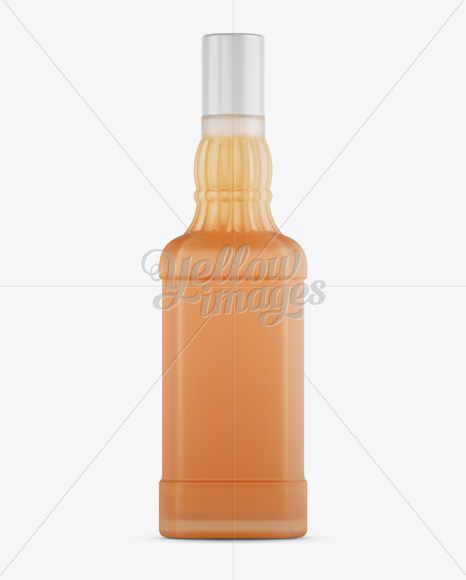 Frosted Bottle W/ Cointreau Mockup - Front View
