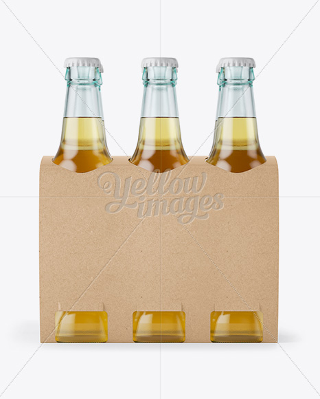 Download Glossy Beer Bottle Wrapped In Glossy Paper Mockup PSD - Free PSD Mockup Templates