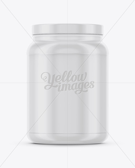 Plastic Container For Washing Capsules Halfside View High Angle Shot