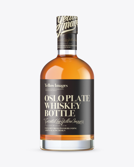 Oslo Whisky Bottle with Shrink Band Mockup