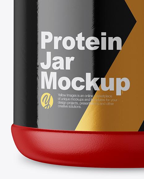 5lb Protein Jar Mockup