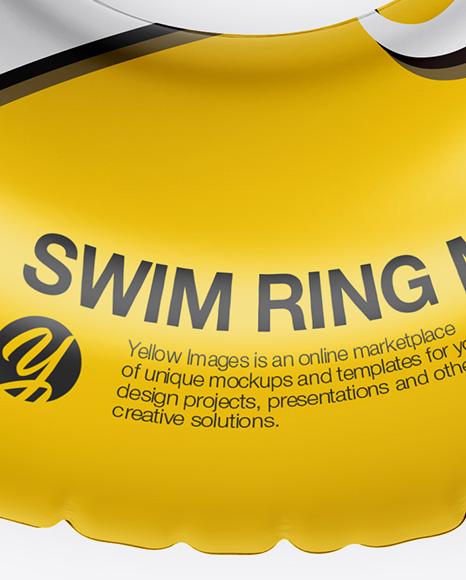 Swim Ring Mockup - Top View