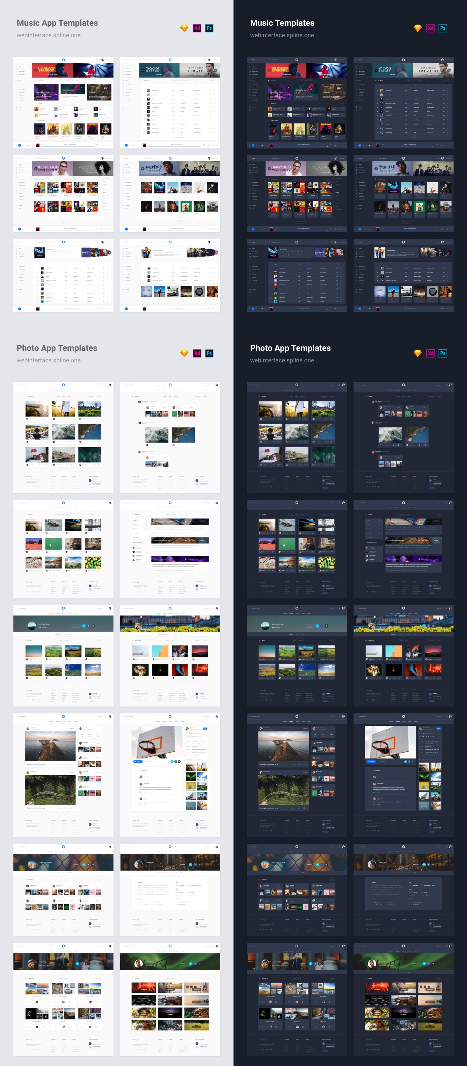 Web Interface 2 for Sketch, XD & PSD