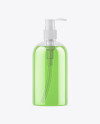 Clear Bottle with Liquid Soap Mockup