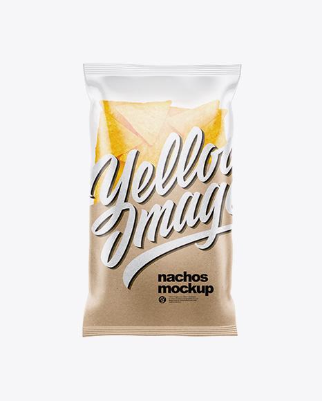 Download Clear Plastic Pack Wasabi Peanuts PSD - Free PSD Mockup Templates