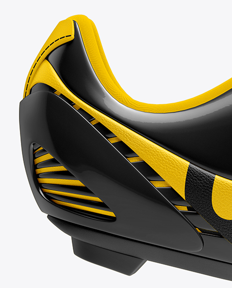 Download Cycling Shoe Mockup Front View Yellow Images