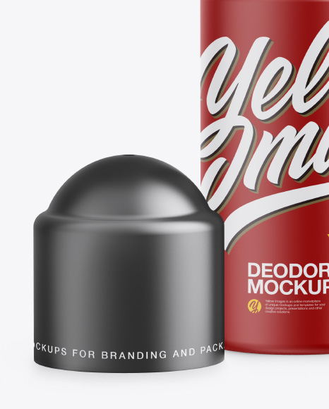 Matte Roll-On Deodorant Open Cap Mockup - Front View