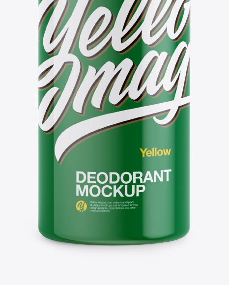 Glossy Roll-On Deodorant Mockup - Front View