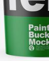 Matte Paint Bucket Mockup - Front View