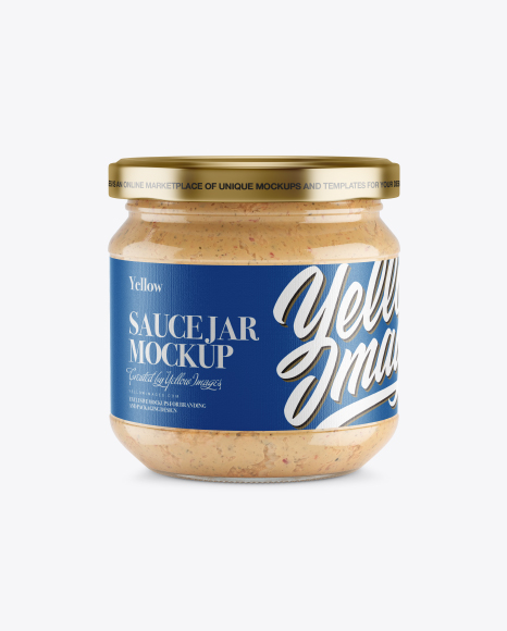 Glass Jar With Spread Mockup